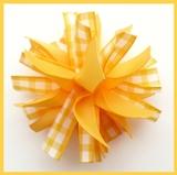 Yellow Gold Gingham Firecracker Hair Bow