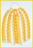 Yellow Gold Gingham Korker Ponytail Streamer